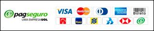 Bandeiras de pagamento PagSeguro